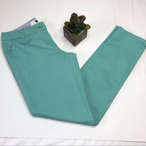Tommy Hilfiger 💯% Cotton chinos, aqua/teal color